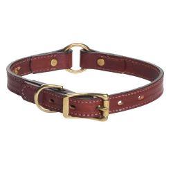 "Mendota Products Leather Hunt Collar 3/4"" x 16"" - Chestnut"