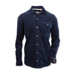 Purnell Corduroy Shirt Jkt- Navy
