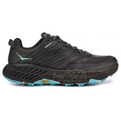 Hoka One One Women's Speedgoat 4 GTX Trail Running Shoes - Anthracite / Dark Gull Grey