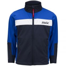 Swix Youth Steady Jacket - Olympian Blue