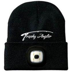 Trophy Angler 200 Lumen Rechargeable LED Knit Hat - Black