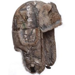Mad Bomber Canvas Bomber Hat - Realtree Xtra with Brown Fur
