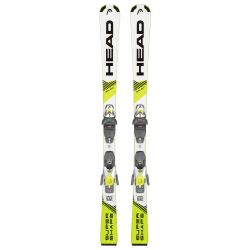 Head Youth Supershape Pro Skis with 7.5 AC Bindings - 2020