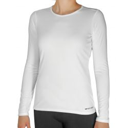 Hot Chillys Women's Peach Skins Lightweight Crewneck - White