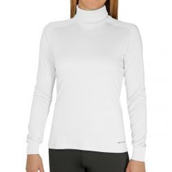 Hot Chillys Women's Peach Skins Lightweight T-Neck - White