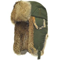 Supplex Bomber Hat - Olive with Brown Fur