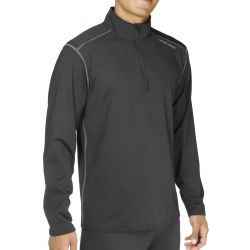 Hot Chillys Men's Micro Elite Chamois Solid Zip T - Black