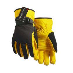 Men's Lined Thinsulate Deerskin Glove - Tan / Black