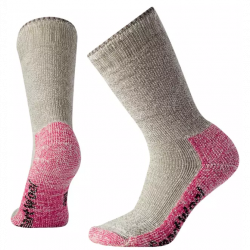 Smartwool Women's Mountaineering X-Heavy Crew Socks - Taupe/Bright Pink