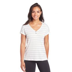 Kuhl Women's Lisette Short Sleeve Shirt - White/Stripe