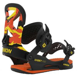 Union Cadet Pro Snowboard Bindings Medium Orange Camo - 2020
