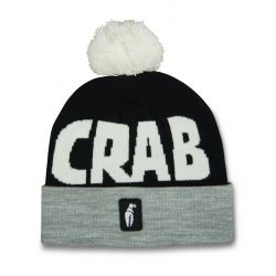 Pom Beanie - Grey/Black/White