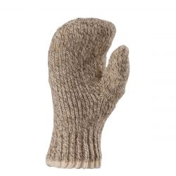 Double Ragg Mitten X-hvy Wt - Brown Tweed