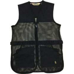 Bob Allen Full Mesh Dual Pad Shooting Vest Medium - Black