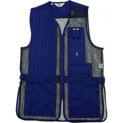 Bob Allen Full Mesh Shooting Vest Left Hand XL - Navy