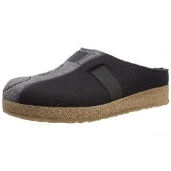 Haflinger W Magic Two Tone Clog - Black/Grey