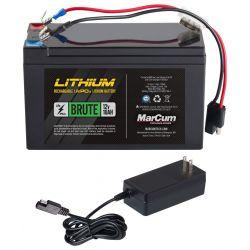 Marcum Brute 10 AH Lithium Ion Battery Kit