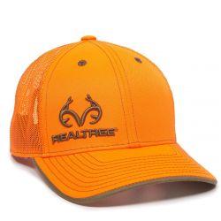Team Realtree Pro Round Crown Cap - Blaze