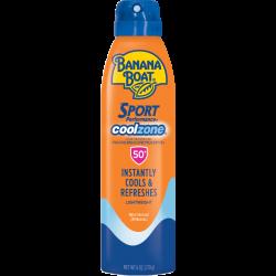 Banana Boat Sport Cool Zone Sunscreen SPF50 6 OZ