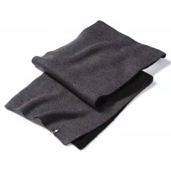 Smartwool Powder Pass Scarf - Black-Medium Gray Heather