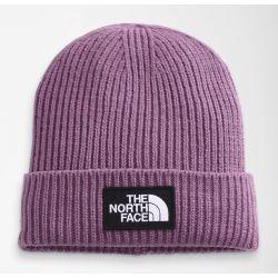The North Face TNF Logo Box Cuffed Beanie Short - Pikes Purple