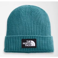 The North Face TNF Logo Box Cuffed Beanie Short - Storm Blue