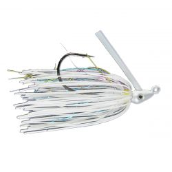 Outkast Tackle Pro Swim Jig Heavy Cover 1/4 Oz - White Rainbow