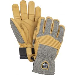Army Leather Couloir 5 Finger - Light Grey/Tan
