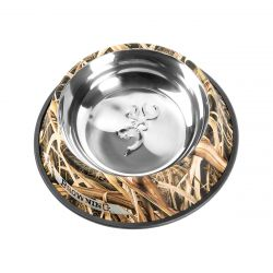 Stainless Steel Pet Dish - Mossy Oak Shadow Grass Blades