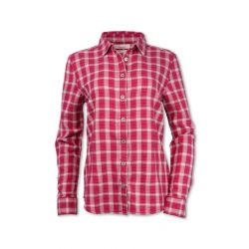 Women's Herringbone Plaid Shirt - Red/Pink