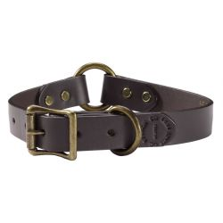 Bridle Leather Dog Collar - Brown
