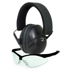 Low Set Range Hearing and Eyewear Combo - Black
