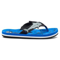 Kids Ahi Shark Sandals - Blue Shark
