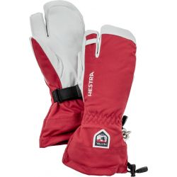 Army Leather Heli Ski 3 Finger - Red