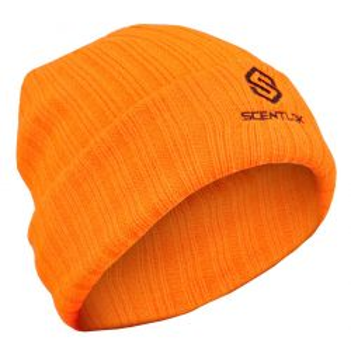 Carbon Alloy Knit Cuff Beanie-Blaze Orange