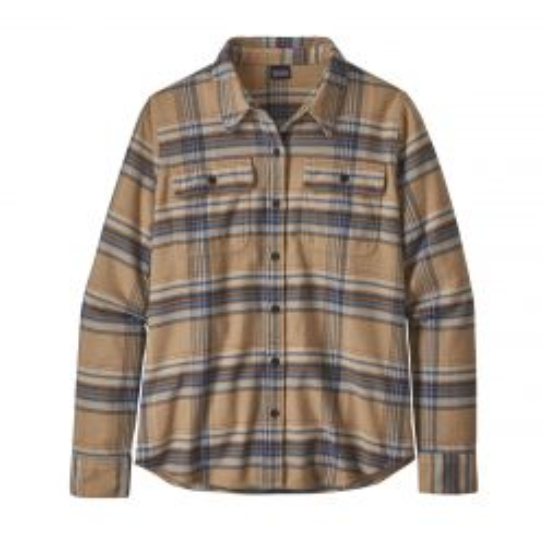 Women's Long-Sleeved Fjord Flannel Shirt - Bearfoot Tan