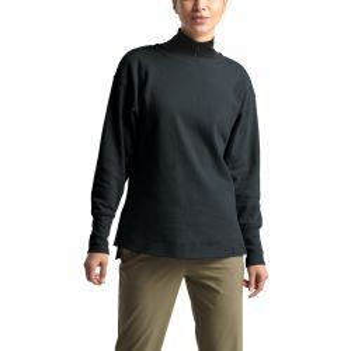Women's Long Sleeve Outerlands Waffle Top - TNF Black