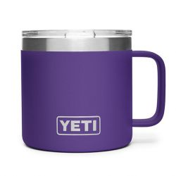 Rambler 14 Oz Mug With Lid - Peak Purple