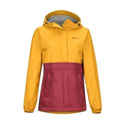 Women's Precip Eco Anorak - Yellow Gold/Claret