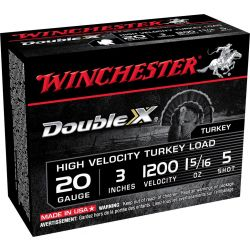 "Double X Tukey Load 20 Gauge 3"" - 1-5/16 oz./5 Shot"