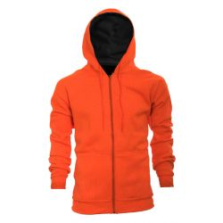 Men's Thermal Lined Full Zip Hoodie - Blaze Orange (Extended Sizes)