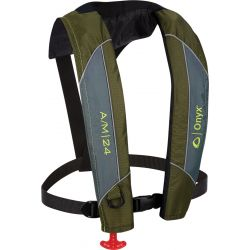 A/M-24 Inflatable Life Jacket - Green