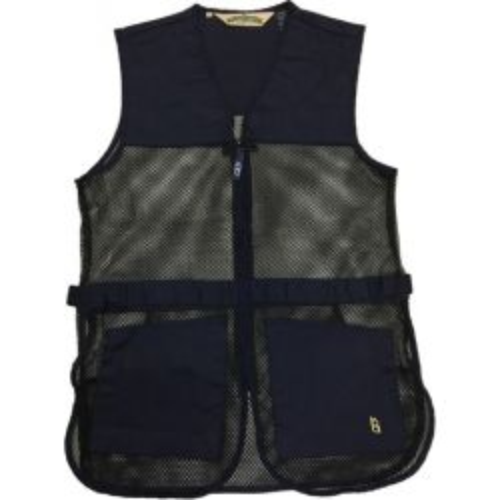 Full Mesh Dual Pad Shooting Vest Large - Navy