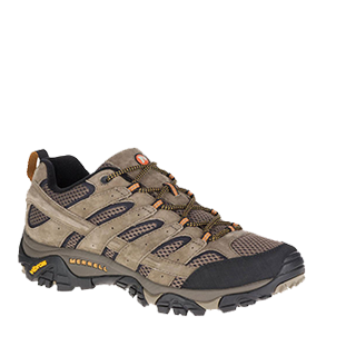 Save 20% on Merrell Moab shoes and boots.